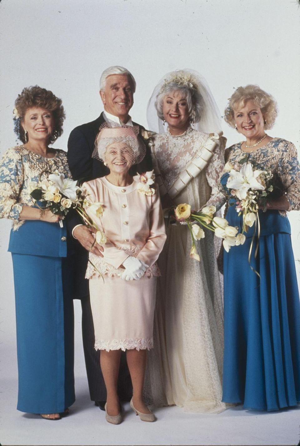 "<p>In 1992, <em>The Golden Girls</em> ended when<a href=""https://www.countryliving.com/life/entertainment/a44957/betty-white-and-bea-arthur-feud/"" rel=""nofollow noopener"" target=""_blank"" data-ylk=""slk:Arthur announced"" class=""link rapid-noclick-resp""> Arthur announced</a> that she wanted to leave the show. White, McClanahan, and Getty did a spin-off called <em>The Golden Palace</em>, but that only lasted one season. </p>"