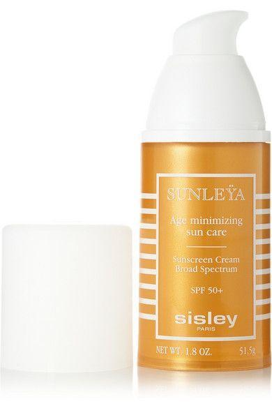 """<p><strong>Sisley Paris</strong></p><p>net-a-porter.com</p><p><strong>$300.00</strong></p><p><a href=""""https://go.redirectingat.com?id=74968X1596630&url=https%3A%2F%2Fwww.net-a-porter.com%2Fus%2Fen%2Fproduct%2F398978&sref=https%3A%2F%2Fwww.townandcountrymag.com%2Fstyle%2Fbeauty-products%2Fg27889502%2Fbest-face-sunscreen%2F"""" rel=""""nofollow noopener"""" target=""""_blank"""" data-ylk=""""slk:Shop Now"""" class=""""link rapid-noclick-resp"""">Shop Now</a></p><p>A splurge at $300, but think of this as serious skincare: This hydrating broad spectrum shield works to stop the formation of wrinkles and sunspots, while rhodochrosite extract helps prevent damage at the cellular level.</p>"""