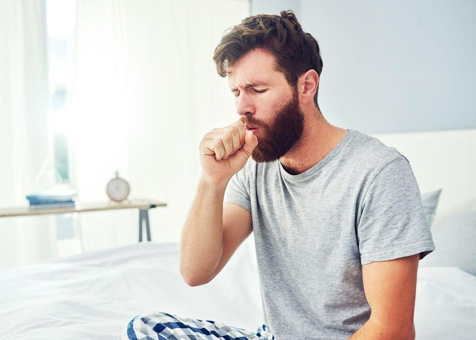 """<p>Can't stop hacking? If you're also having shortness of breath, fast heart rate, or chest pain, it could be a PE. """"The <a href=""""https://www.prevention.com/health/a31927676/what-does-dry-cough-mean/"""" rel=""""nofollow noopener"""" target=""""_blank"""" data-ylk=""""slk:cough will be dry"""" class=""""link rapid-noclick-resp"""">cough will be dry</a>, but sometimes people can cough up mucus and/or blood,"""" says Dr. Navarro. When in doubt, phone your doc or go straight to the ER.</p><p><strong>Related: <a href=""""https://www.prevention.com/health/a30735959/how-to-get-rid-of-lingering-cough/"""" rel=""""nofollow noopener"""" target=""""_blank"""" data-ylk=""""slk:How to Get Rid of a Lingering Cough"""" class=""""link rapid-noclick-resp"""">How to Get Rid of a Lingering Cough</a></strong></p>"""