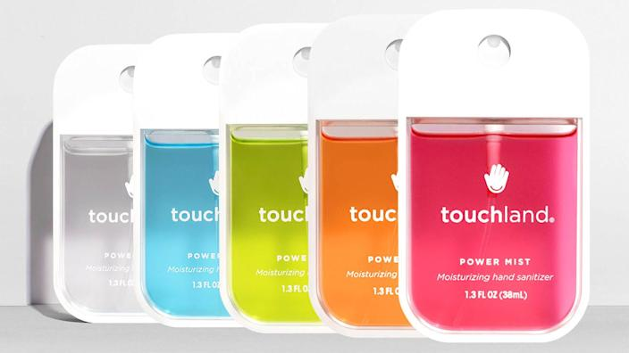 Touchland is known for its fast-evaporating, nourishing and sanitizing formula.