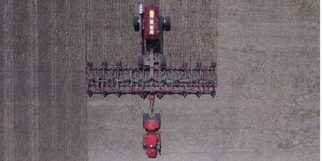 Footage captured by a drone shows some of the work done on Jason LeBlanc's Estevan, Sask. farm.