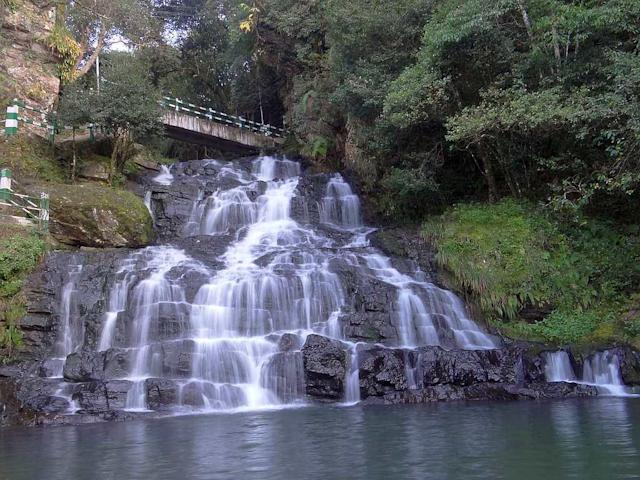 "Elephant Fall in in Mawnianglah, Meghalaya, located just about 10 km from Shillong. This is a popular picnic spot. <br>By <a href=""https://www.flickr.com/photos/sskalai/"" rel=""nofollow noopener"" target=""_blank"" data-ylk=""slk:Shyam Son Kalai"" class=""link rapid-noclick-resp"">Shyam Son Kalai</a>/ Flickr"