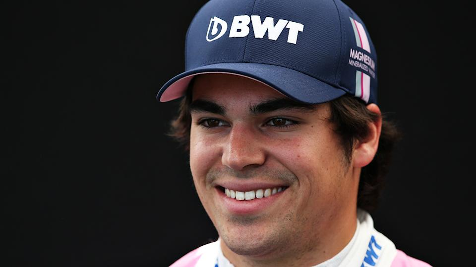 Racing Point driver Lance Stroll is pictured during a portrait session.