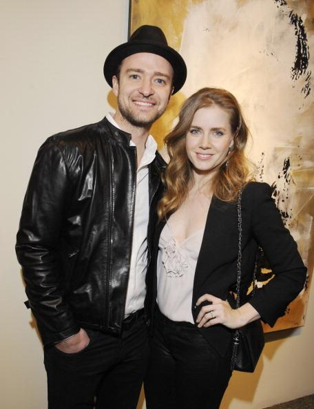 "Justin Timberlake and Amy Adams attend Darren Le Gallo's ""Nothing You Don't Know"" Exhibition hosted by Trigg Ison Fine Art, Amy Adams and Justin Timberlake at Trigg Ison Fine Arts Gallery on February 7, 2013 in West Hollywood, California."