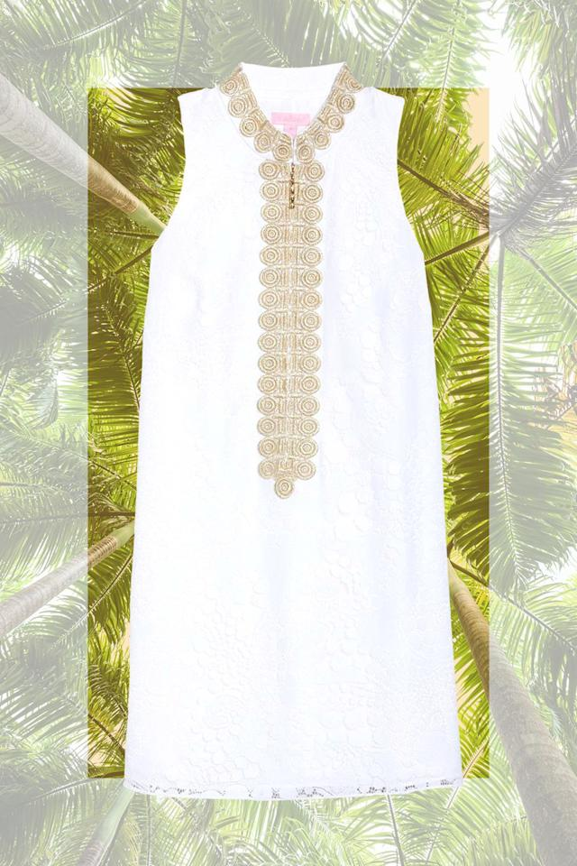 """<p><em>Lilly Pulitzer Jane Shift Dress<br></em><a rel=""""nofollow"""" href=""""https://shop.nordstrom.com/s/lilly-pulitzer-jane-lace-shift-dress/4863800?origin=coordinating-4863800-0-2-FTR-recbot-recently_viewed_snowplow_mvp&recs_placement=FTR&recs_strategy=recently_viewed_snowplow_mvp&recs_source=recbot&recs_page_type=search"""">SHOP NOW</a> $278</p><p>Having visited Old Hollywood's playground three times over the past 12 months, I've found myself using the now-iconic Slim Aarons photo """"Poolside Gossip"""" for packing inspiration. This<strong> crisp white shift dress</strong> looks exactly like something one of the ladies in the picture would have in her suitcase. While you're in town, be sure to stop at <a rel=""""nofollow"""" href=""""https://www.icecreamandshop.com/"""">Ice Cream & Shop(pe)</a>, a neon-lit wonderland on N. Palm Canyon Drive where you'll find flavors like Mexican Chocolate, Pink Ginger, and Lavender. And if you're going to wear the white dress? Throw a stain remover wipe in your bag...just in case.<br></p>"""