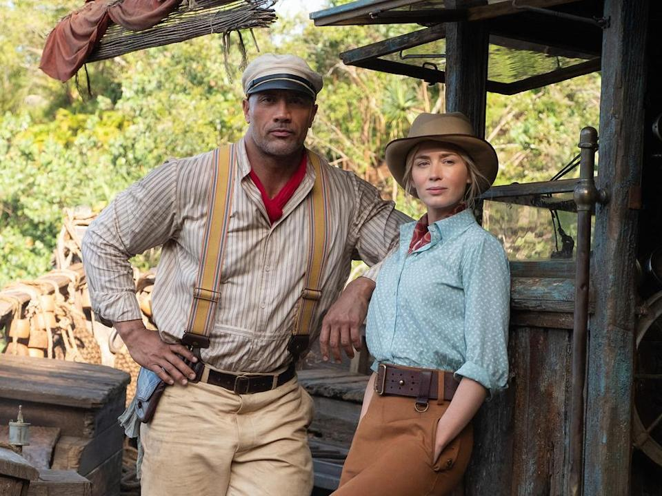 "Dwayne Johnson und Emily Blunt in Disneys ""Jungle Cruise"". (Bild: 2020 Disney Enterprises, Inc. All Rights Reserved.)"
