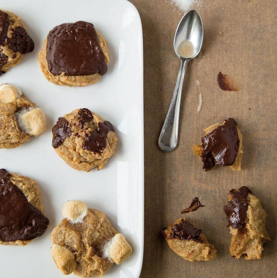 """<p>Cookbook author Christina Lane calls these her """"emergency cookies"""" because they're easy to whip up during the most serious sweet cravings!</p><p><em><a href=""""https://www.goodhousekeeping.com/food-recipes/a16297/four-ingredient-peanut-butter-cookies-del0115/"""" rel=""""nofollow noopener"""" target=""""_blank"""" data-ylk=""""slk:Get the recipe for Four-Ingredient Peanut Butter Cookies »"""" class=""""link rapid-noclick-resp"""">Get the recipe for Four-Ingredient Peanut Butter Cookies »</a></em></p>"""