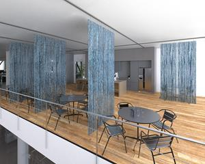 Infusions™ Resilient Partitions are easily cleanable translucent wall partitions that can transform existing shared spaces into protected and segmented zones.