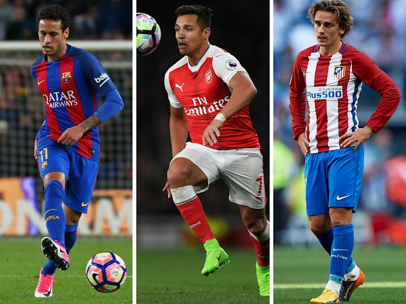 Neymar, Sanchez and Griezmann - all wanted for big fees