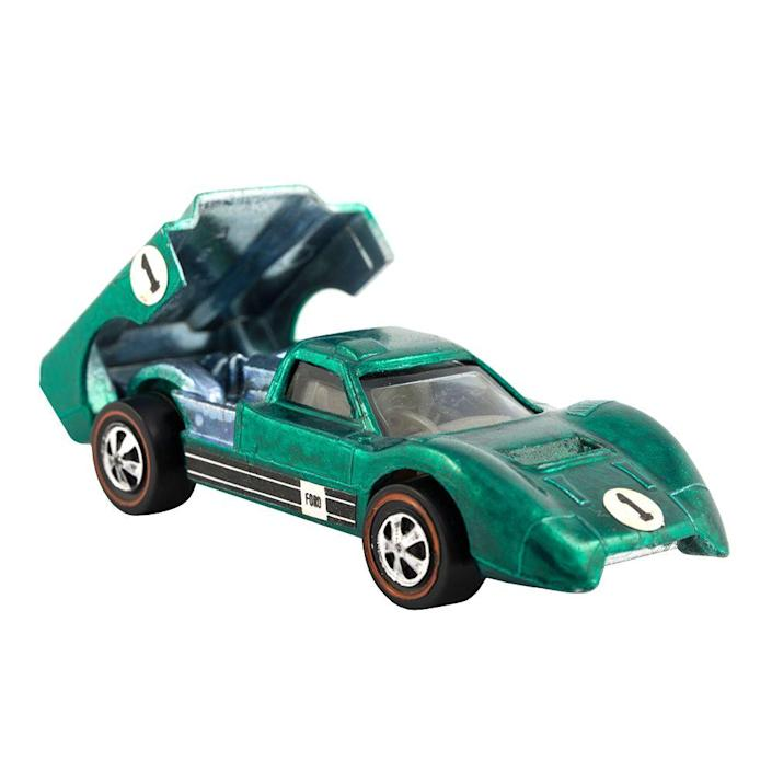 """<p><a class=""""link rapid-noclick-resp"""" href=""""https://www.amazon.com/Hot-Wheels-Cars-Gift-Styles/dp/B01BMW645O/?tag=syn-yahoo-20&ascsubtag=%5Bartid%7C10063.g.34738490%5Bsrc%7Cyahoo-us"""" rel=""""nofollow noopener"""" target=""""_blank"""" data-ylk=""""slk:BUY NOW"""">BUY NOW</a><br></p><p>Unlike the Matchbox cars that were more like real-life mini replicas, Hot Wheels were the cooler, souped-up toy cars that zoomed onto the market in 1968. The cars were designed with an added axel and rotating styrene wheels that made them go faster than Matchbox. The other advantage they had over their competitor was the coveted Hot Wheels Track System.</p><p> You can currently get a wide variety of cars and tracks that are still popular among young kids today.</p>"""