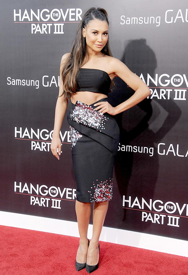 "WESTWOOD, CA - MAY 20: Actress Naya Rivera arrives at the Los Angeles premiere of ""The Hangover III"" at Mann's Village Theatre on May 20, 2013 in Westwood, California.  (Photo by Gregg DeGuire/WireImage)"