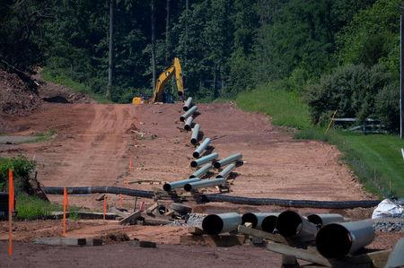 Construction work continues on Sunoco's Mariner East II natural gas pipeline near Morgantown
