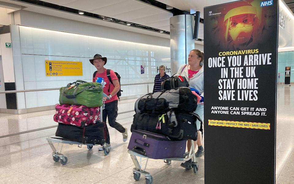 Holidaymakers have been told they must consider the impact that quarantine would have on their time off work - Kirsty O'Connor/PA