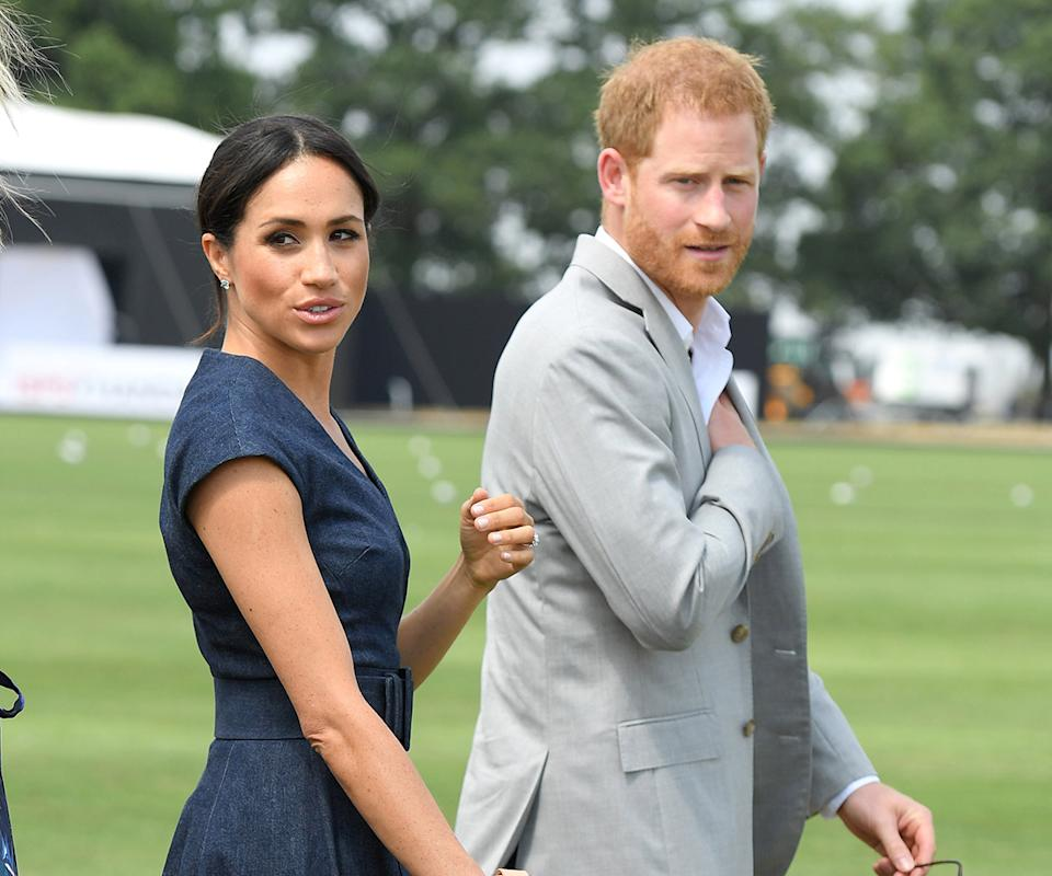 Prince Harry and Meghan Markle at the polo