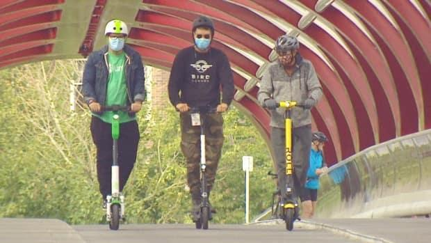 Calgary's e-scooter pilot program ended last fall after two years. In that time, about 200,000 people used the scooters and made 1.9 million trips. (Mike Symington/CBC - image credit)