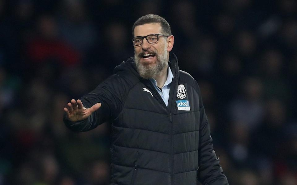 Slaven Bilic head coach / manager of West Bromwich Albion reacts during the Sky Bet Championship match between West Bromwich Albion and Middlesbrough at The Hawthorns on December 29, 2019 in West Bromwich, England - West Bromwich Albion FC /Adam Fradgley - AMA