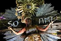 Some samba schools depicted Jesus, others chose themes such as fake news in Brazil's 2018 presidential race and black and women's rights