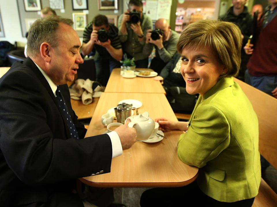 Alex Salmond and Nicola Sturgeon campaigning together in 2015PA