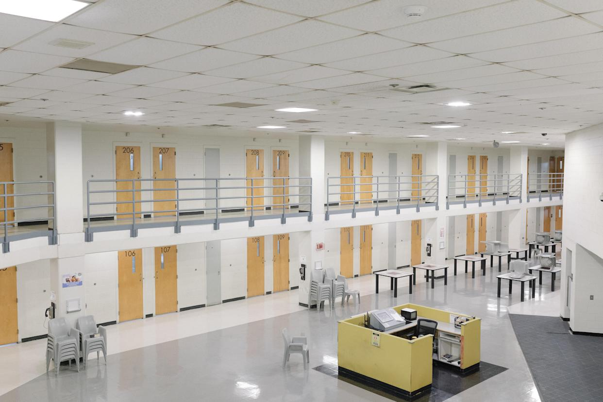Cell block at the Atlanta City Detention Center. (Photo: Lynsey Weatherspoon for Yahoo News)