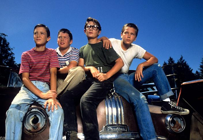 Wil Wheaton, Jerry O'Connell, Corey Feldman and River Phoenix played 1950s kids trying to track down a dead body in