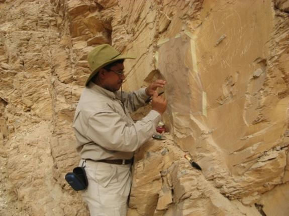 Not only did the archaeologists look for new tombs in Egypt's Valley of the Kings, but they discovered evidence of an ancient flood control system, the remains of workers' huts and numerous graffiti (an example seen here), among other findings.