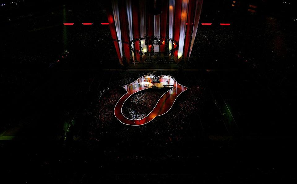 """<p>LOL, and then the Rolling Stones came the next year and were like, """"Bye, Paul."""" This picture gives a taste of how extra their show was and also quite literally sets the stage for elaborate set design in years to come. </p>"""