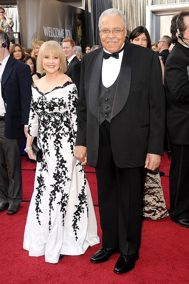 James Earl Jones and Cecilia Hart arrive at the 84th Annual Academy Awards in Hollywood, CA.