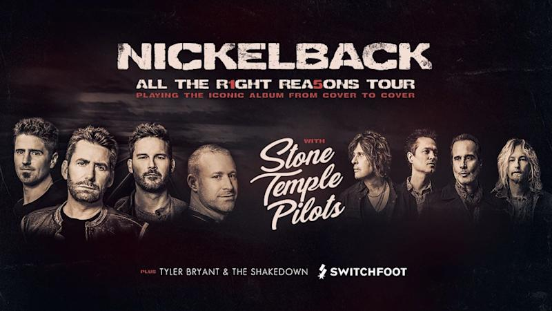 Nickelback announce 2020 North American tour with Stone Temple Pilots