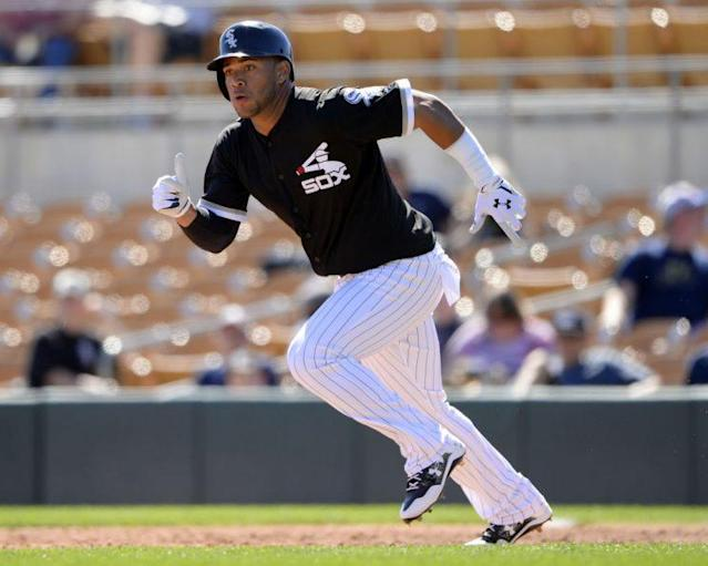 Yoan Moncada is scorching hot at the plate, building his case for a call-up. (Getty Images)