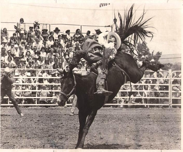 Country singer Chris LeDoux competed as a bareback rider at the Reno Rodeo in the 1970s and won the world championship in 1976.