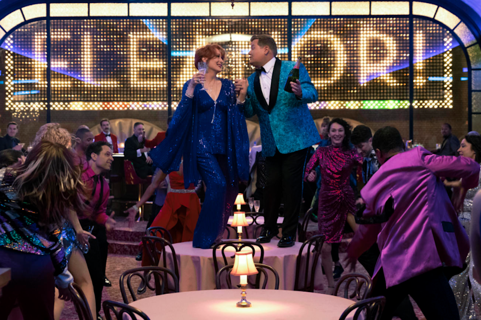<p>Meryl Streep and James Corden star in The Prom</p>Netflix