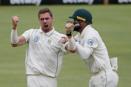 Anrich Nortje (L) was crucial to South Africa's 107-run win over England