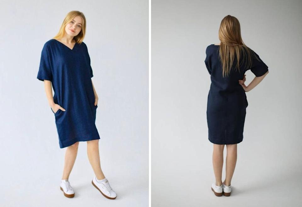 """This really gives you a blank slate to build off of. Pair it with your chunky gold jewelry, platform clogs or bamboo bucket bag — you name it.<br /><br />Happy Madeis a Scandinavian Etsy shop that specializes in all things linen. If you like the simplicity of this dress, check out their overalls, off-the-shoulder tops, dusters and tapered trousers, too.<br /><br /><strong>Promising review</strong>: """"This dress is so fine I have ordered more. It's simple but very smart-looking, the workmanship is perfection, and the fabric is top of the line. Anna was easy and accessible to work with. I had the length changed to ankle length and it's so cool and comfortable."""" —<a href=""""https://www.awin1.com/cread.php?awinmid=6220&awinaffid=837483&clickref=HPClothesMultipleColors-60a27070e4b063dcceac389d-&ued=https%3A%2F%2Fwww.etsy.com%2Fpeople%2Fbmttx"""" target=""""_blank"""" rel=""""nofollow noopener noreferrer"""" data-skimlinks-tracking=""""5876227"""" data-vars-affiliate=""""AWIN"""" data-vars-campaign=""""MultipleColorsStuart-2-23-21-5876227"""" data-vars-href=""""https://www.awin1.com/cread.php?awinmid=6220&awinaffid=304459&clickref=MultipleColorsStuart-2-23-21-5876227&ued=https%3A%2F%2Fwww.etsy.com%2Flisting%2F811031091%2Felina-linen-dress-washed-pure-flax-dress"""" data-vars-keywords=""""fast fashion"""" data-vars-link-id=""""16492349"""" data-vars-price="""""""" data-vars-product-id=""""21026119"""" data-vars-product-img=""""https://i.etsystatic.com/17689750/r/il/79dd7e/2369972438/il_1588xN.2369972438_esf7.jpg"""" data-vars-product-title=""""ELINA Linen Dress / Washed Pure Flax Dress / Boxy Loose Linen Tunic / Boho Style Linen Dress for Women / Ethically Made by Happymade Designs"""" data-vars-retailers=""""etsy"""" data-ml-dynamic=""""true"""" data-ml-dynamic-type=""""sl"""" data-orig-url=""""https://www.awin1.com/cread.php?awinmid=6220&awinaffid=304459&clickref=MultipleColorsStuart-2-23-21-5876227&ued=https%3A%2F%2Fwww.etsy.com%2Flisting%2F811031091%2Felina-linen-dress-washed-pure-flax-dress"""" data-ml-id=""""48"""">neva tiption<br /><br /></a><a href=""""https://www.awin1.com"""