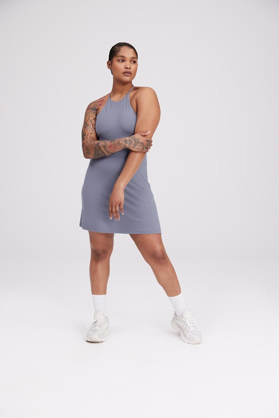 """<h2>Best Sustainable<br></h2><br><h3>Girlfriend Collective Sea Glass Undress<br></h3><br>This eco-option is made with 90% recycled plastic bottles (RPET) and 10% spandex — and features some of the most stylish colorways we've seen in a minute. (No wonder it's nearly sold out!)<br><br><strong>What They're Saying:</strong> """"This has become my go-to summer dress. It's perfect for date nights or running around town. I love to pair it with a denim jacket and sneakers. It is so comfortable and the Float material is great at absorbing sweat on hot days.""""<br><br><strong>Girlfriend Collective</strong> Sea Glass Undress, $, available at <a href=""""https://go.skimresources.com/?id=30283X879131&url=https%3A%2F%2Fwww.girlfriend.com%2Fcollections%2Funitards-dresses%2Fproducts%2Fsea-glass-undress%3Fvariant%3D39281862770751"""" rel=""""nofollow noopener"""" target=""""_blank"""" data-ylk=""""slk:Girlfriend Collective"""" class=""""link rapid-noclick-resp"""">Girlfriend Collective</a>"""