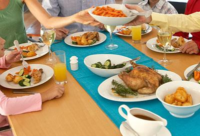 "<div class=""caption-credit""> Photo by: Thinkstock</div><div class=""caption-title""></div><b>FAT HABIT #12: Putting serving dishes on the table</b> <br> Resist setting out foods buffet- or family-style, and opt instead to serve them from the kitchen. A study in the journal Obesity found that when food is served from the dinner table, people consume 35 percent more over the course of the meal. When an additional helping requires leaving the table, people hesitate to go back for more.<b><br></b> <p>   <b><a rel=""nofollow"" href=""http://wp.me/p1rIBL-174"">11 Truth About Abs You Should Know</a></b> </p> <br>"