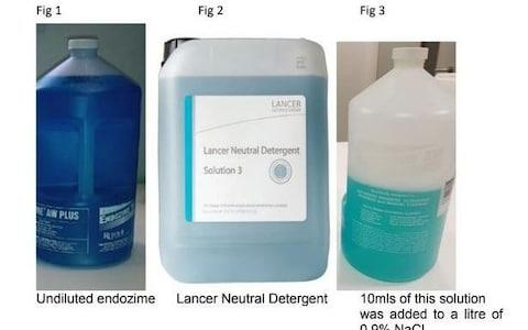 An image from the Serious Incident Report shows the confused liquids - Credit: MEN MEDIA