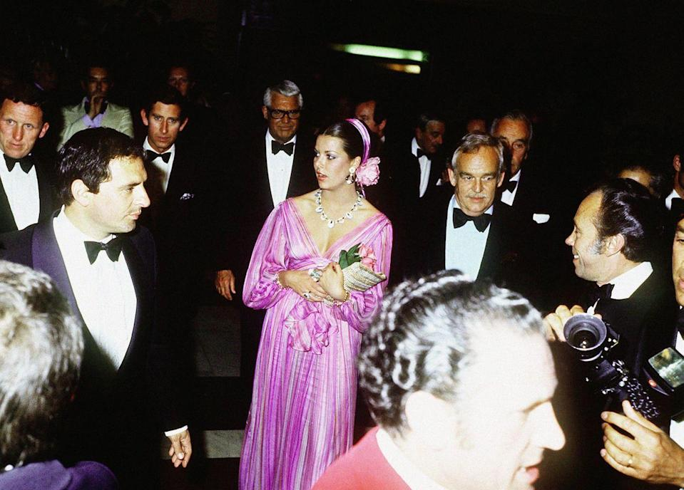 <p>Princess Caroline and her father Prince Rainier hosted Prince Charles at Monte Carlo's Hotel de Paris in 1983.</p>