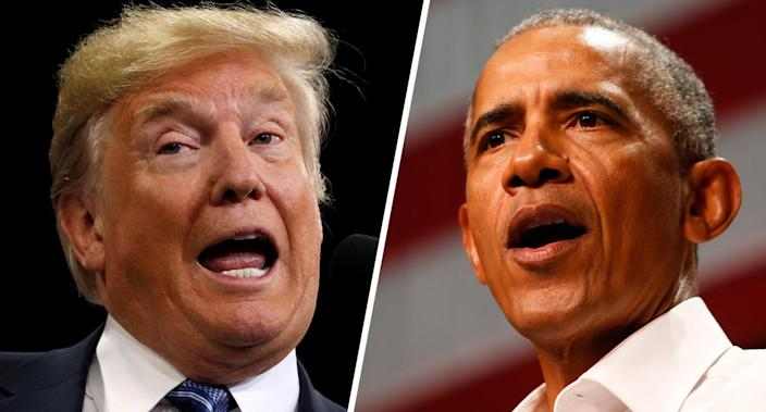 Donald Trump and Barack Obama. (Photos: Kevin Lamarque/Reuters, Ringo H.W. Chiu/AP)