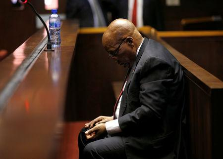 Former South African President Jacob Zuma arrives at court ahead of his court appearance in Pietermaritzburg, South Africa, November 30, 2018. REUTERS/Rogan Ward