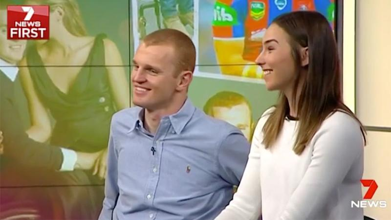 Alex and Tiegan will marry on Sunday. Pic: Ch 7