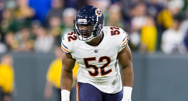 Khalil Mack is one of four players to earn a perfect 99 rating in the upcoming Madden 20 video game.