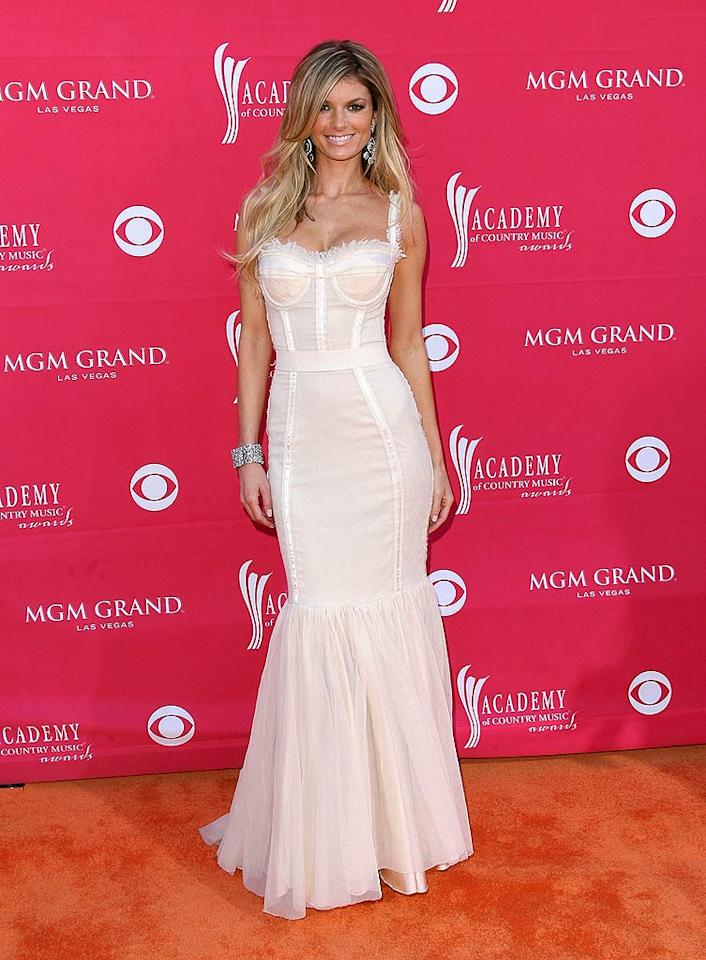 "Victoria's Secret model Marisa Miller hit the mark in a modified Dolce & Gabbana Spring '09 corset gown at this year's ACM Awards. Jason Merritt/<a href=""http://www.gettyimages.com/"" target=""new"">GettyImages.com</a> - April 5, 2009"