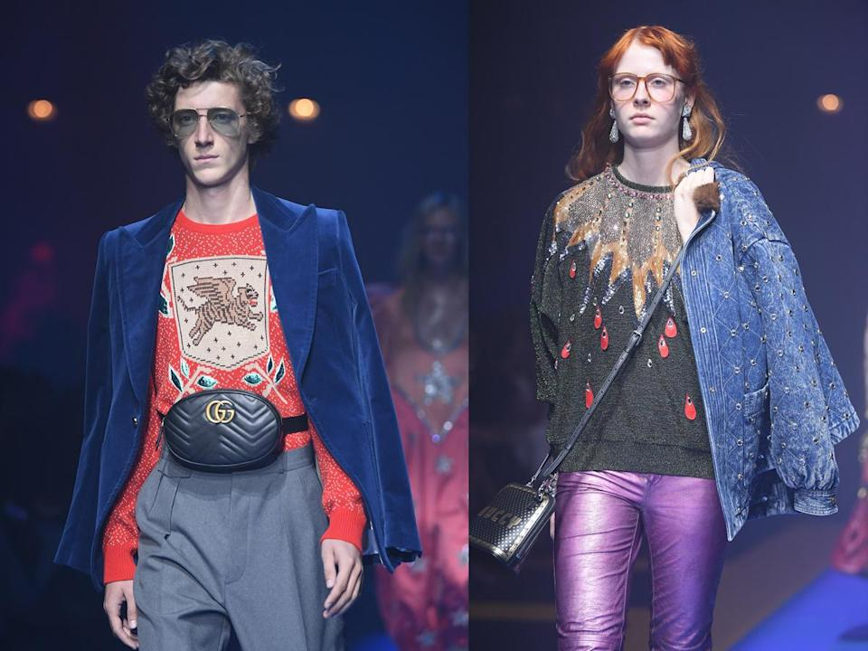 Fanny packs were all over the Gucci spring-summer 2018 runway, and they'll likely end up all over Instagram in a few weeks. (Photo: Getty Images)
