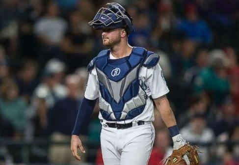 Seattle Mariners catcher Mike Marjama is opening up about his battle with an eating disorder in high school. (Getty Images)