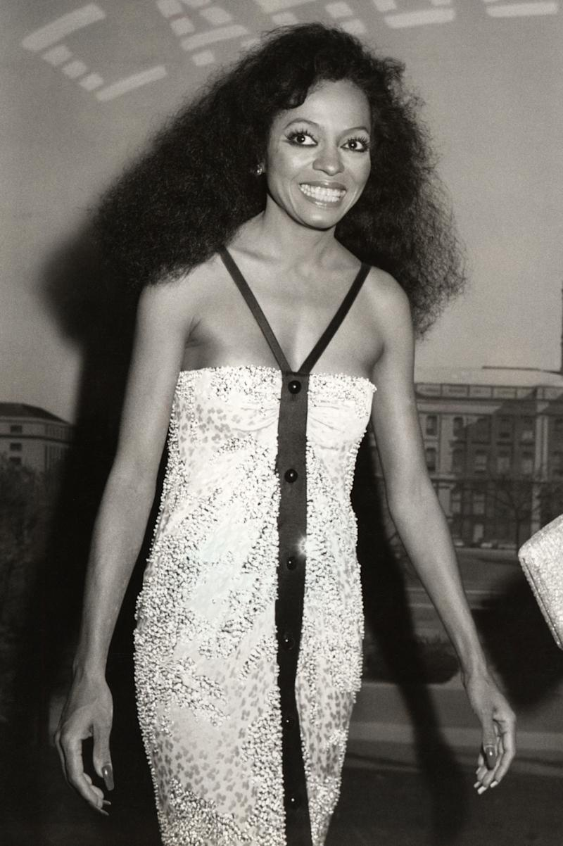 """Diana Ross in 1981. """"She's a complete icon. For me, you can't reference the '80s without referencing Diana Ross,"""" says Redway, calling out the singer's voluminous, cascading hair. There's a renegade spirit, too: """"She broke away from her group and showed that she can stand on her own."""""""