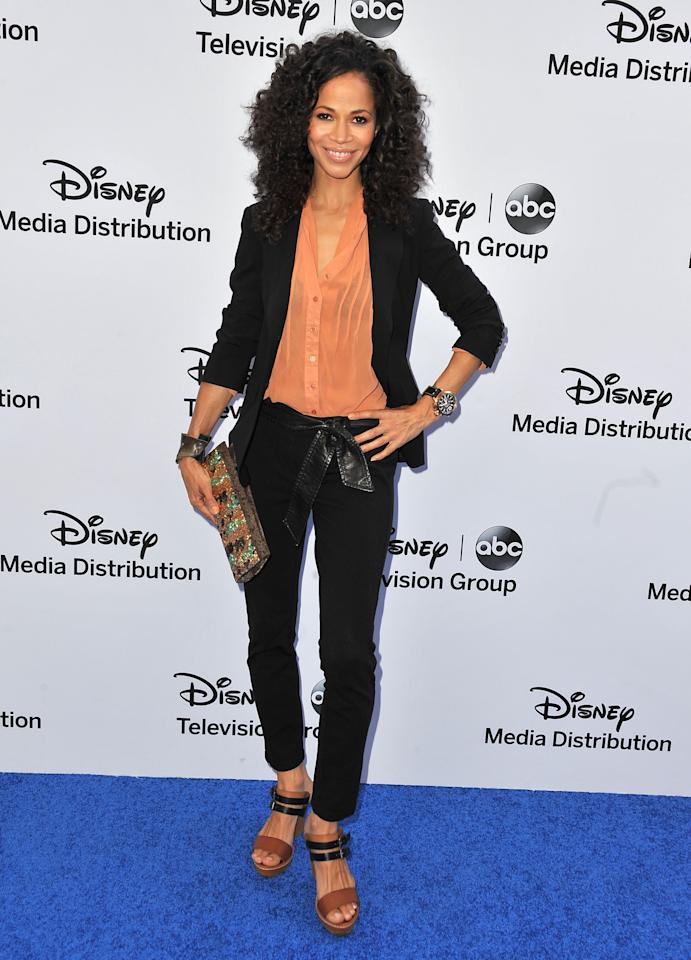BURBANK, CA - MAY 19:  Actress Sherri Saum arrives at the Disney Media Networks International Upfronts at Walt Disney Studios on May 19, 2013 in Burbank, California.  (Photo by Angela Weiss/Getty Images)