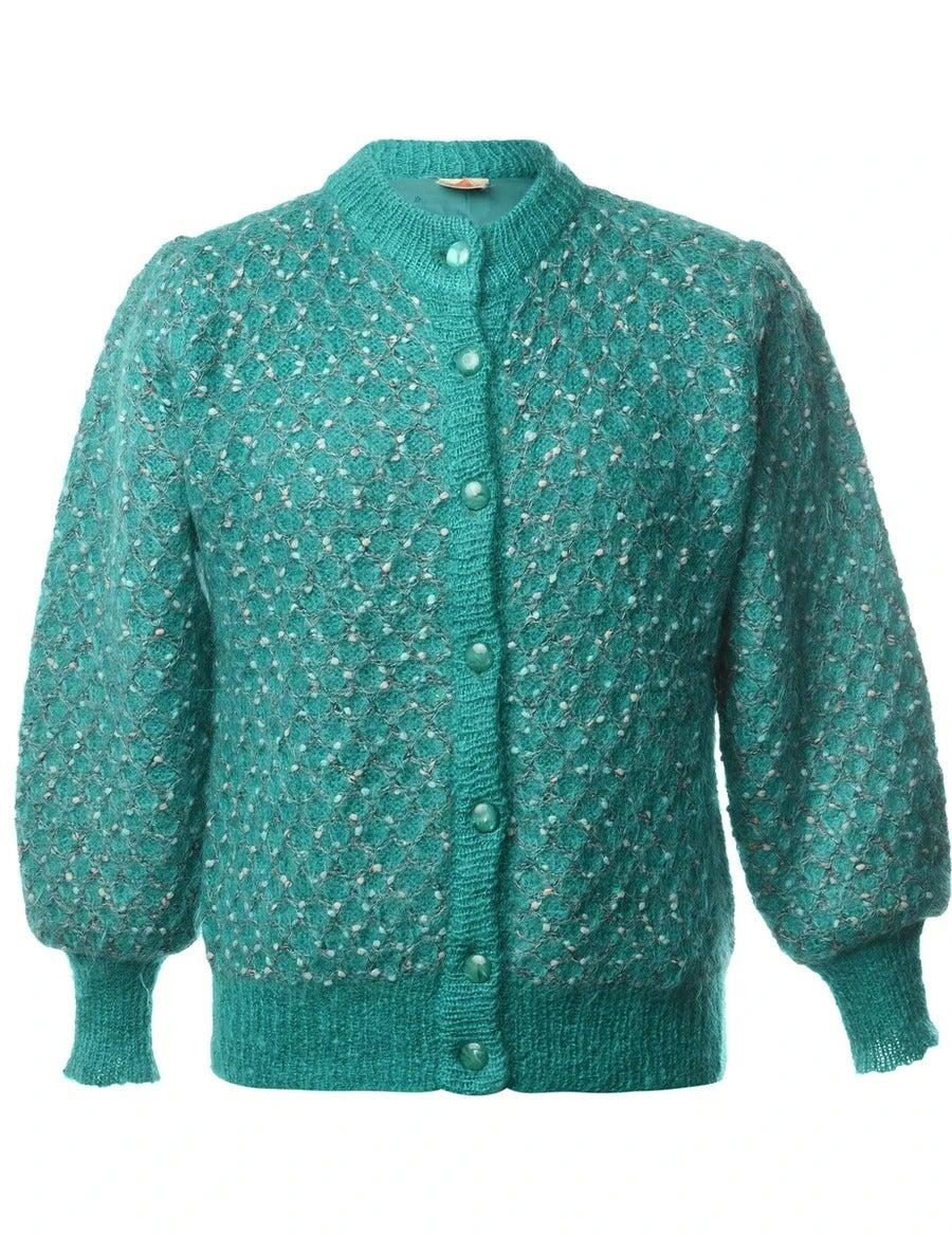 """<br><br><strong>BEYOND RETRO</strong> Button Front Cardigan, $, available at <a href=""""https://www.beyondretro.com/products/1980s-button-front-cardigan-l-3"""" rel=""""nofollow noopener"""" target=""""_blank"""" data-ylk=""""slk:Beyond Retro"""" class=""""link rapid-noclick-resp"""">Beyond Retro</a>"""