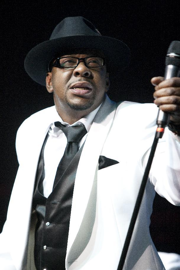 FILE - In this Feb. 18, 2012 file photo, singer Bobby Brown, former husband of the late Whitney Houston performs with New Edition at Mohegan Sun Casino in Uncasville, Conn. Brown's attorney entered a no contest plea to one count of drunken driving on Wednesday, April 25, 2012 in Los Angeles. The singer was sentenced to three years of informal probation and ordered to undergo a three-month alcohol education course. (AP Photo/Joe Giblin, file)