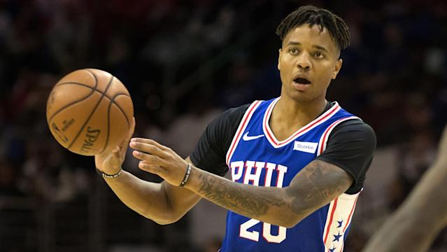"Despite the ups and downs, the 76ers aren't giving up on <a class=""link rapid-noclick-resp"" href=""/nba/players/5763/"" data-ylk=""slk:Markelle Fultz"">Markelle Fultz</a>. (AP)"