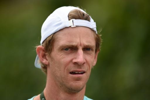 South Africa's Kevin Anderson arrives at the training courts at Wimbledon on Tuesday